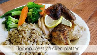 Lemon Roast Chicken Platter