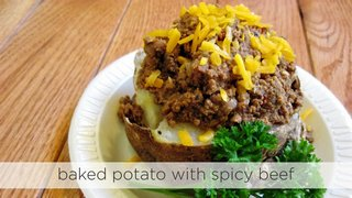 Baked Potato with Spicy Beef